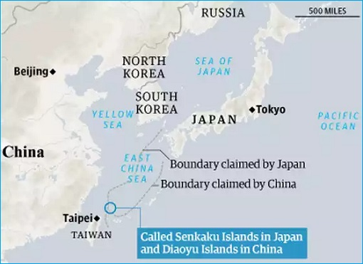China-Japan Dispute Territory - Senkaku or Diaoyu Islands