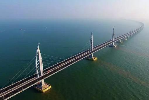 China and World Longest Sea Bridge - Above View