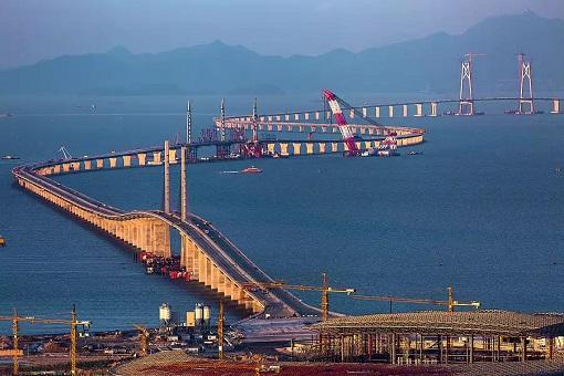 China and World Longest Sea Bridge - Under Construction 2