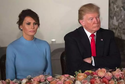 Donald and Melania Trump - Angry Unhappy on Inauguration Day