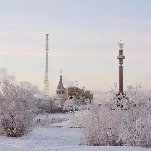 Extreme Temperature - Cold at Yakutsk - Russia - Church