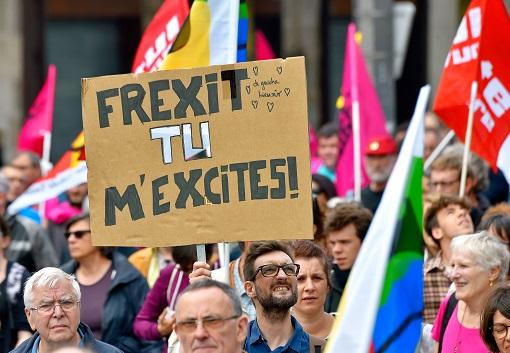 France Frexit Protesters - Exit EU European Union