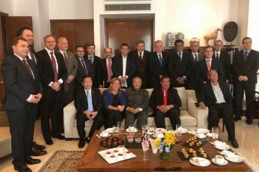 Mahathir Meets 14 European Union Diplomats and Ambassadors