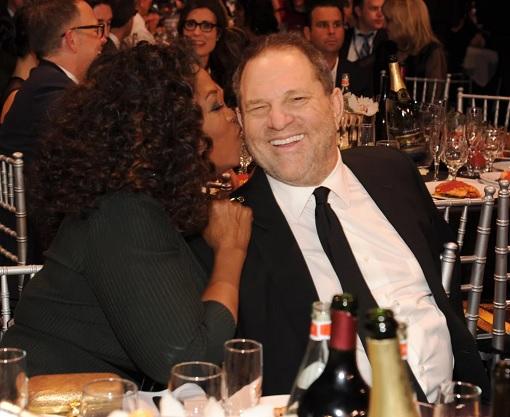 Oprah Winfrey Kissing Harvey Weinstein