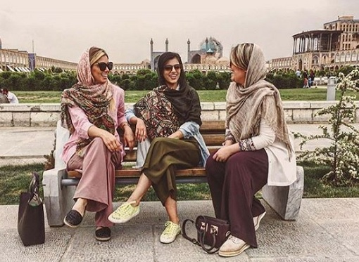 Rich Kids of Tehran - Girls Chatting At Park