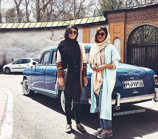 Rich Kids of Tehran - Girls With Antic Mercedez Benz
