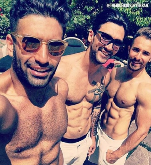 Rich Kids of Tehran - Guys Showing Off Body