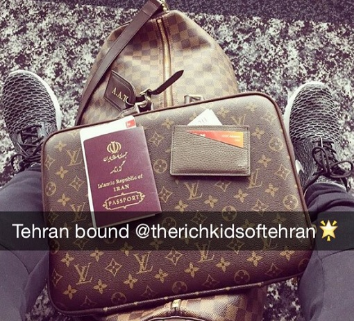 Rich Kids of Tehran - Travelling with LV Bags