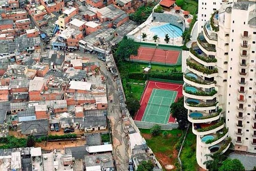 Rich and Poor Gap - Condo vs Squatter Houses