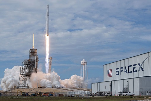 SpaceX Launching Rocket