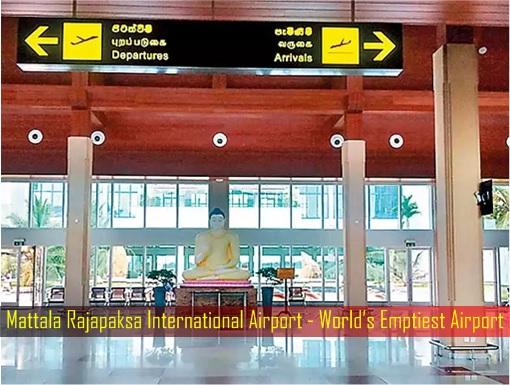 Sri Lanka Mattala Rajapaksa International Airport - Emptiest Airport