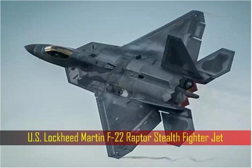 U.S. Lockheed Martin F-22 Raptor Stealth Fighter Jet