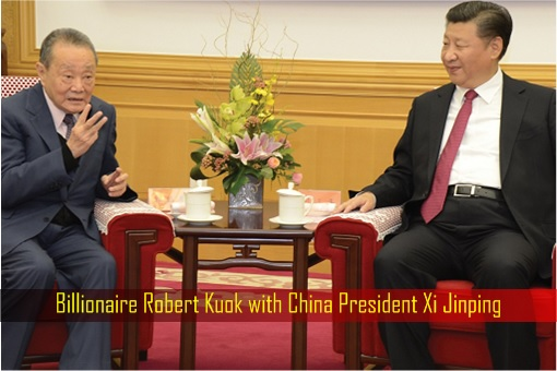 Billionaire Robert Kuok with China President Xi Jinping