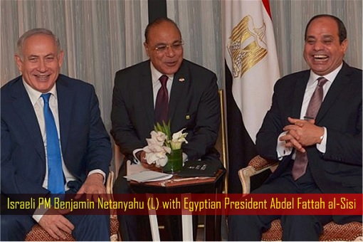 Israeli PM Benjamin Netanyahu with Egyptian President Abdel Fattah al-Sisi