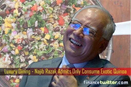 Image result for Gambar najib makan Quinoa