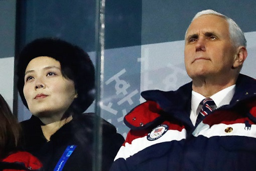 North Korea Kim Yo Jong outflanked US Vice President Mike Pence