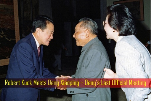 Robert Kuok Meets Deng Xiaoping – Deng Last Official Meeting