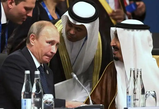 Russia Vladimir Putin Meeting With Saudi King Salman