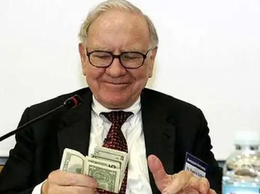 Warren Buffett Counting Money Notes