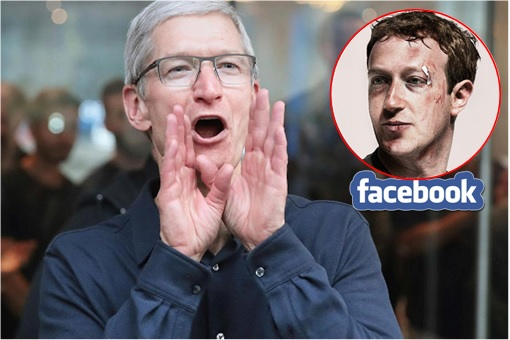 Apple Tim Cook Mocked Facebook Mark Zuckerberg Bruises