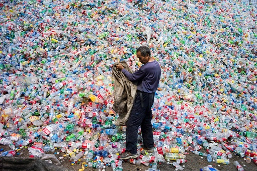 China Dumping Ground of Garbage - A Man Collecting Trash