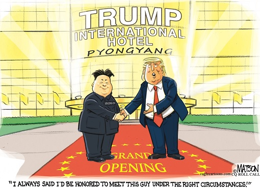 Donald Trump Meets Kim Jong-un - Trump International Hotel Pyongyang