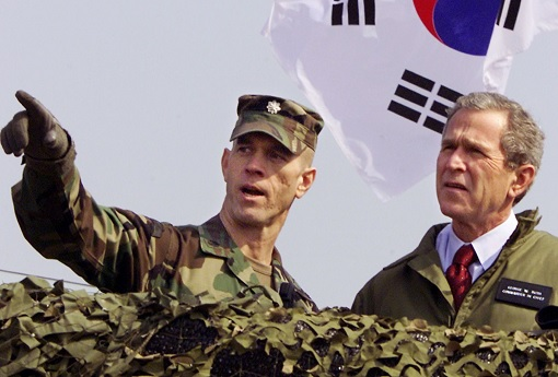 Former President George Bush Visits Korea DMZ