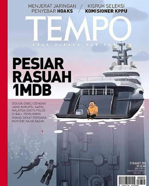 Indonesia Tempo Magazine - 1MDB Scandal - Yacht