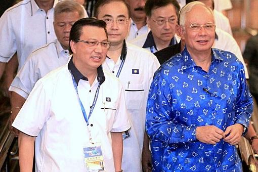 MCA President Liow Tiong Lai with Prime Minister Najib Razak