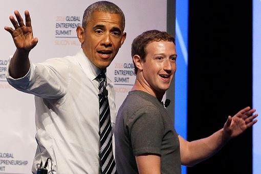 Mark Zuckerberg with Barack Obama