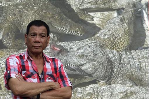 Philippine President Rodrigo Duterte - Crocodiles