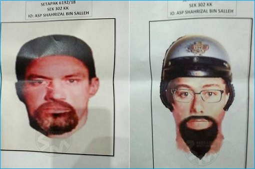 Assassination of Palestinian professor Fadi Mohammad al-Batsh - Sketch of Suspects