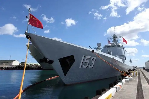 China Warship Visits and Docks at Vanuatu Port