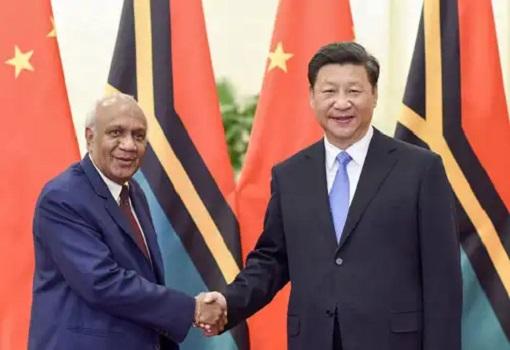 Chinese President Xi Jinping met Vanuatu Prime Minister Sato Kilman - 2015