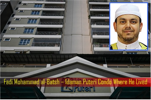 Fadi Mohammad al-Batsh – Idaman Puteri Condo Where He Lived