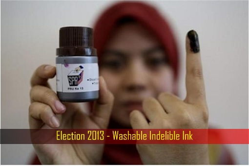 Malaysia Election 2013 - Washable Indeliable Ink