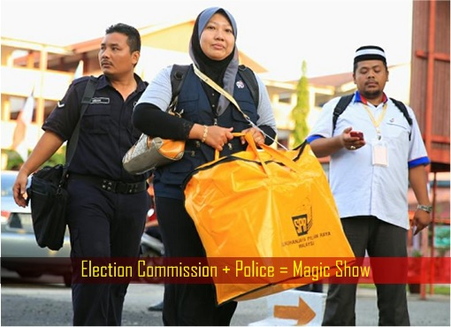Malaysia Election Commission with Police Produce Magic Show