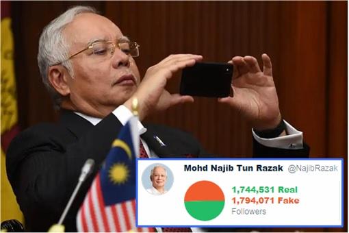 Najib Razak - Fake Twitter Followers