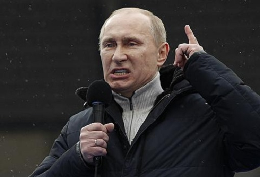 Russia Vladimir Putin - Angry