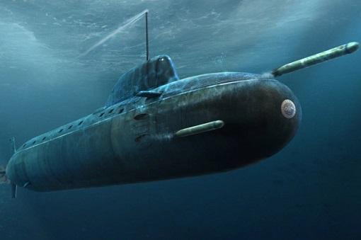 Russian Submarine Launches Torpedo