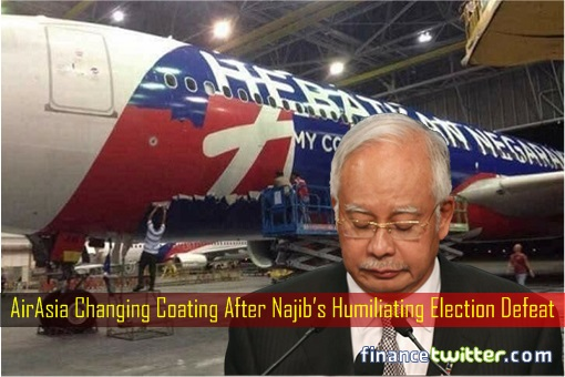 AirAsia Changing Coating After Najib Humiliating Election Defeat 2