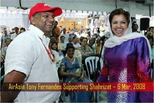AirAsia Tony Fernandes Supporting Shahrizat – 6 Mar 2008