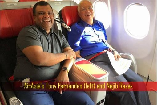 AirAsia Tony Fernandes and Najib Razak - Seat