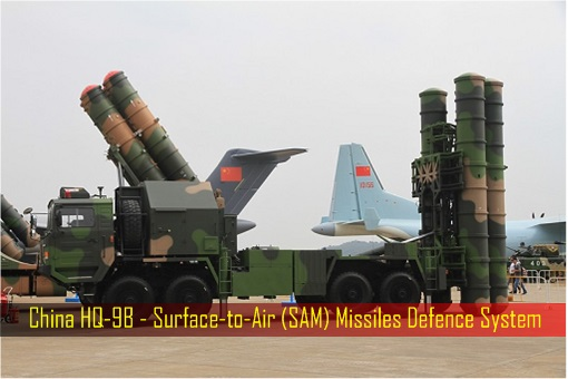 China HQ-9B - Surface-to-Air SAM Missiles Defence System