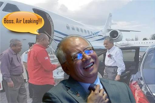 Mahathir Jet Sabotaged - Najib Laughing