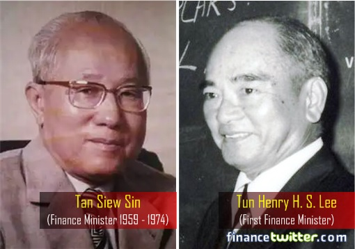 Malaysia Ethnic-Chinese Finance Minister - Henry H S Lee and Tan Siew Sin
