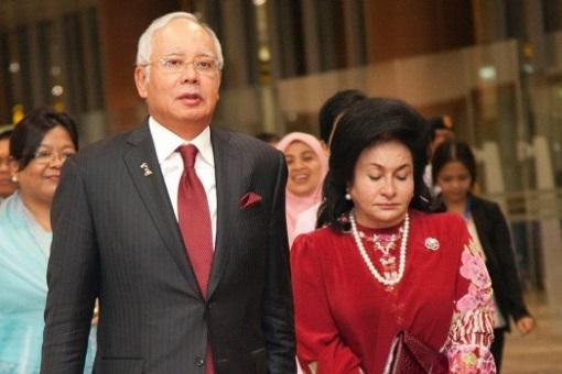 Najib Razak and Rosmah Mansor - Sad