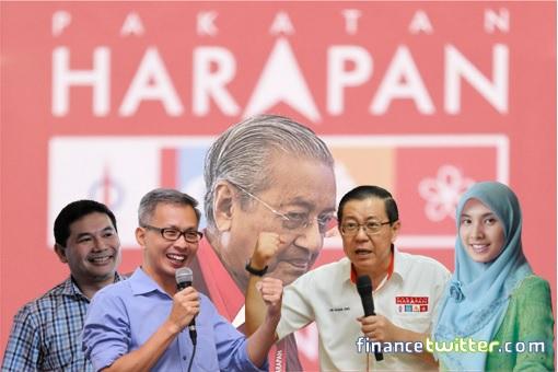 Pakatan Harapan Mahathir - Talents - Rafizi Ramli, Tony Pua, Lim Guang Eng, Nurul Izzah