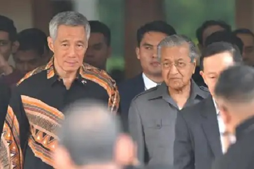 Singapore Lee Hsien Loong Visits Malaysia Mahathir Mohamad