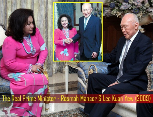 The Real Prime Minister - Rosmah Mansor and Lee Kuan Yew - 2009